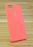 Силиконовый  Чехол на Айфон, iPhone 7 Original (COPY) Светло Оранжевый