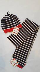 Шапочка с шарфиком для мальчика DPam полоска