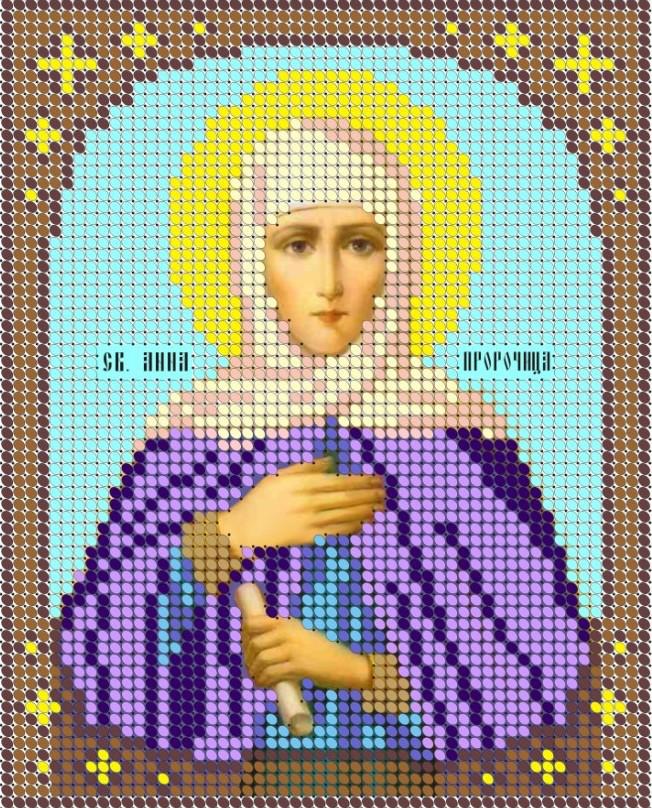 Схема для вишивки та вишивання бісером Бисерок «Святая Пророчица Анна» (A6) 10x15 (ЧВ-1059-10)