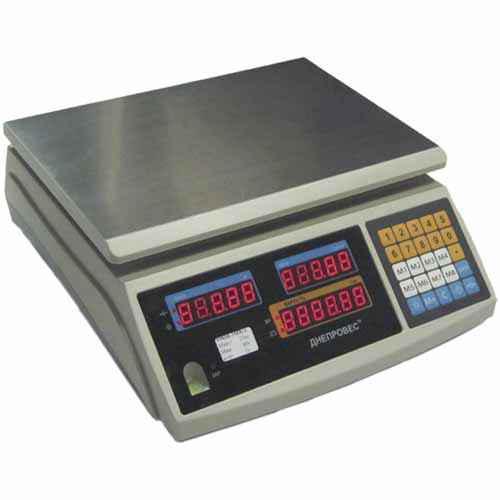 Весы торговые ВТД-6 ЕЛ1 (F902H-ED1) Днепровес