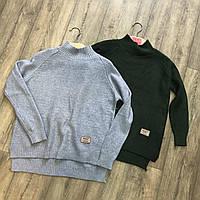Свитер, серый свитер, теплый свитер, джемпер, свитер вязанный, свитер женский