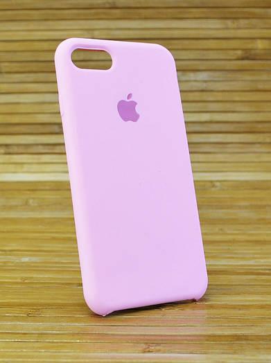 Силиконовый чехол на Айфон, iPhone 7 Original (COPY) розовый