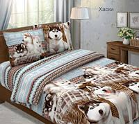 Семейный комплект постельного белья бязь люкс Хаски