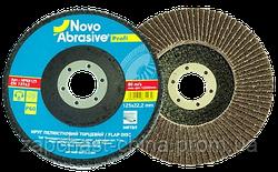 Круг пелюстковий торцевий 125*22,2 т27  Novoabrasive Standard P 120