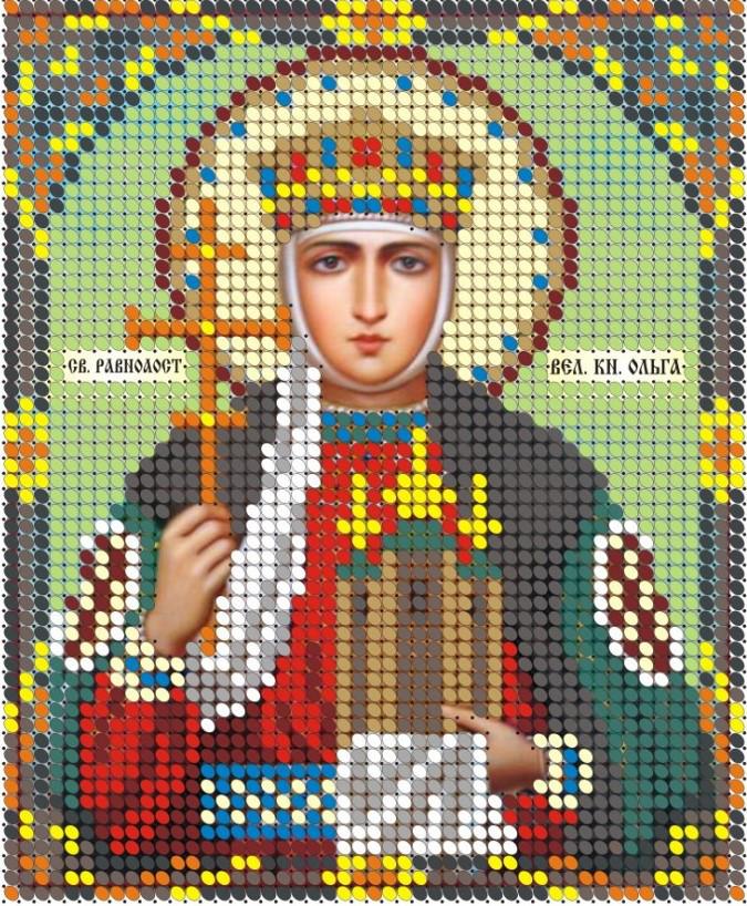 Схема для вишивки та вишивання бісером Бисерок «СВ Ольга» (A6) 10x15 (ЧВ-1054)