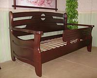 """Детская кровать с бортиком """"Американка"""". Массив дерева - сосна, ольха, береза, дуб."""