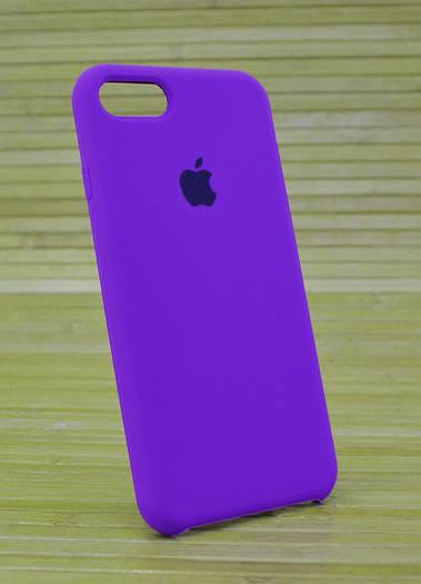Силиконовый чехол silicone case на iPhone 7 Original (COPY) фиолетовый