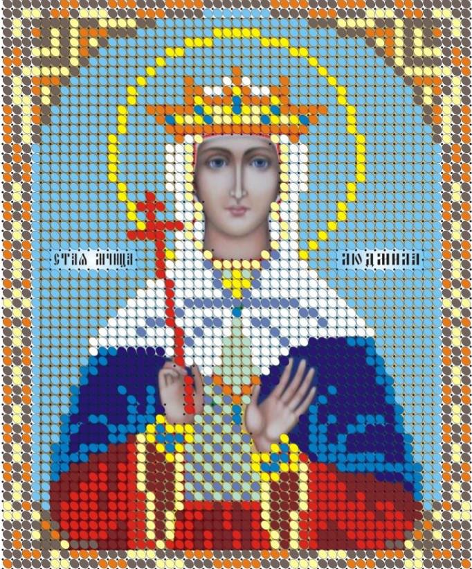 Схема для вишивки та вишивання бісером Бисерок «СВ Людмила» (A6) 10x15 (ЧВ-1050)
