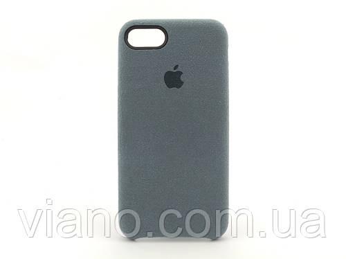 Замшевый чехол iPhone 7/8 (Серый) Alcantara case