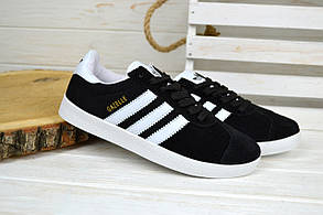 Кроссовки женские Adidas Gazelle черные 2365