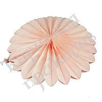 Веерный круг (тишью) 40см (персиковый 0012), фото 1