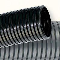 Труба 36мм с протяжкой полиамидная гофрированная черная, V2, Dвн 36.3мм, Dвнеш 42.5мм