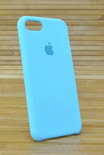 Силиконовый чехол на  iPhone 7 Original (COPY) бирюзовый