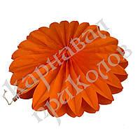 Веерный круг (тишью) 40см (оранжевый 0011), фото 1
