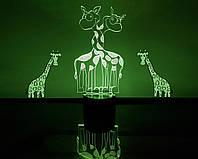 """3d светильник """"Влюбленные жирафики"""" 3DTOYSLAMP, фото 1"""