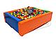 Сухой бассейн KIDIGO™ Прямоугольник 2,0 х 1,5 м MMSB8, фото 2