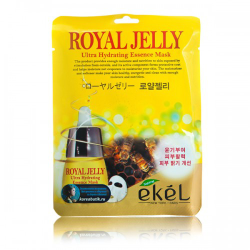 Корейская тканевая маска с маточным молочком Ekel Royal Jelly Ultra Hydrating Essence Mask