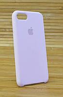 Чехол сматово-шелковистым силиконом для iPhone 7 Original (COPY) бледно розовый