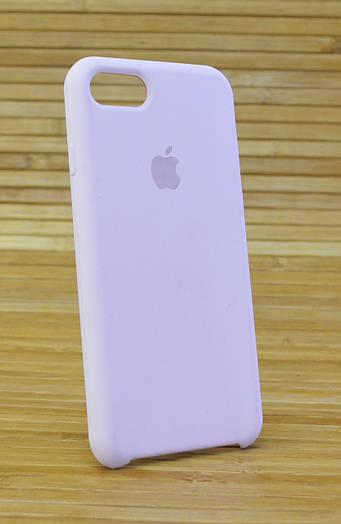 Чехол для Айфон, iPhone 7 сматово-шелковистым силиконом Original (COPY) бледно розовый