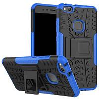 Чехол Huawei P10 Lite противоударный бампер синий