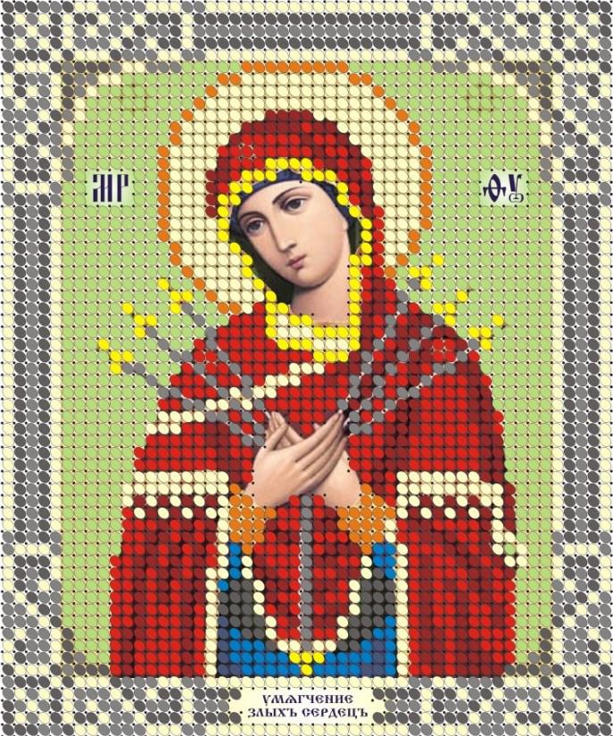 Схема для вишивки та вишивання бісером Бисерок «Помякшення злих сердець» (A6) 10x15 (ЧВ-1014-1)