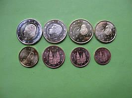 Испания , набор евро монет 2017 г , UNC.