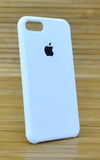 Силиконовая накладка на корпус телефона для Айфон, iPhone 7 Original (COPY) белый