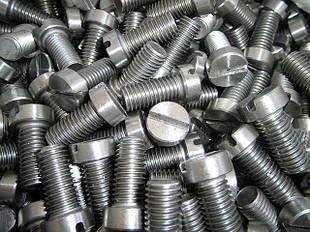 Винты DIN 84, ГОСТ 1491-80, ISO 1207 с прямым шлицем