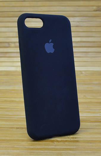 Силиконовый чехол на iPhone 7 Original (COPY) чёрный