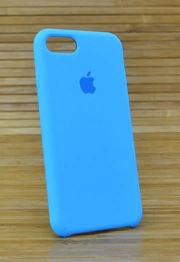 Силиконовый чехол на Айфон, iPhone 7 Original (COPY) голубой