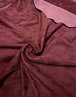 Велюр одежный стрейч Magisco Velour красный бургунди 0,5-0,6 мм Франция