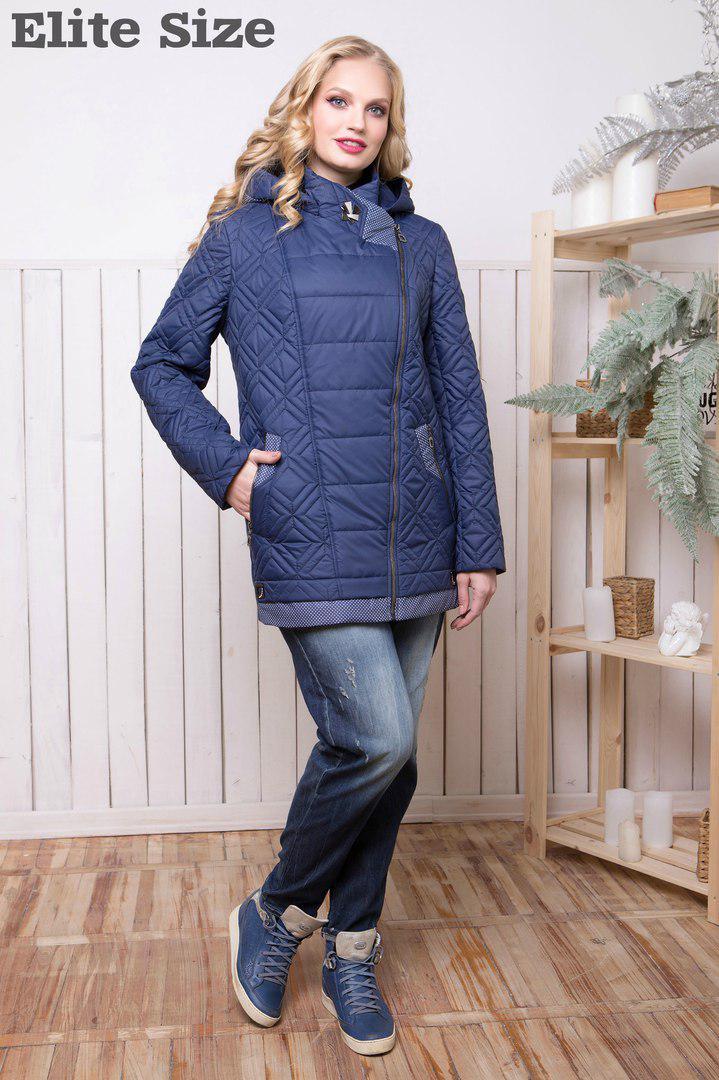 db5e5213031f Удлиненная женская демисезонная куртка с наполнителем силикон (100) купить  недорого (52, 54