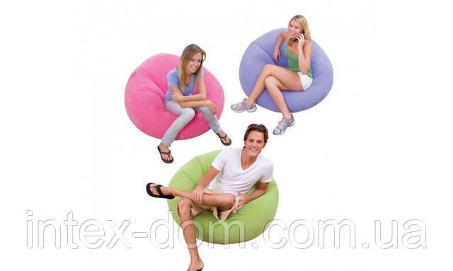 Надувное кресло Beanless Bag Chair INTEX 68569P (Розовое) интекс107х104х69 см  киев