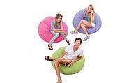 Надувное кресло Beanless Bag Chair INTEX 68569P (Розовое) интекс107х104х69 см  киев, фото 1