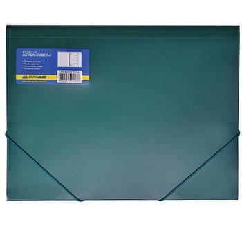 Папка А4 с резинкой пластик Buromax 3913_Зеленый