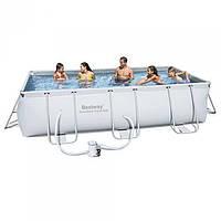 Каркасный бассейн Bestway 56251 с фильтр-насосом,размер 404х201х100 см