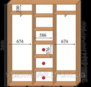 Шкаф-купе 2,0*0,45*2,4 ЭШК-5204