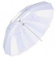 Зонт белый со спицами углеволокна mingxing 72''_185см (48009)