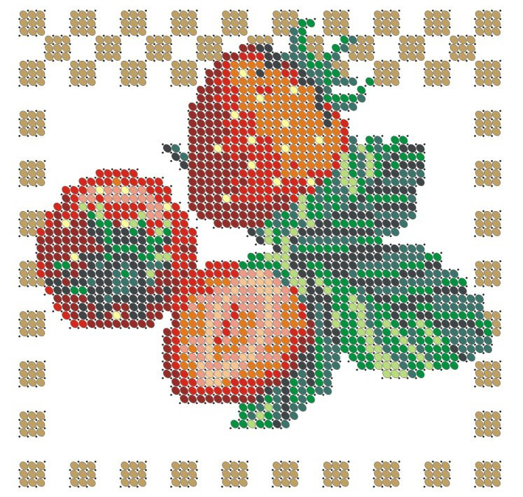 Схема для вишивки та вишивання бісером Бисерок «Полуниця» (A6) 10x15 (ЧВ-1003-10)