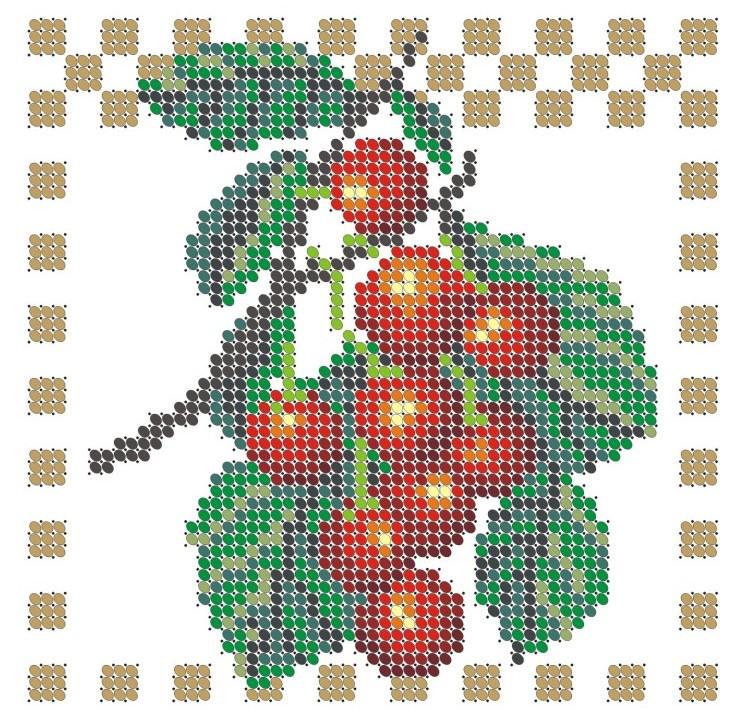Схема для вишивки та вишивання бісером Бисерок «Вишня» (A6) 10x15 (ЧВ-1002-10)