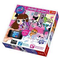 Пазл Trefl 75101 App Puzzle Вечерние игры Hasbro Littlest Pet Shop 75101