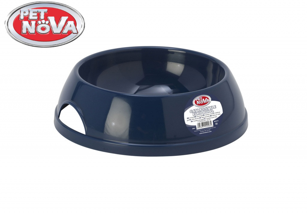 Миска для кошек Pet Nova P-EUROBOWL-200-BL Синяя