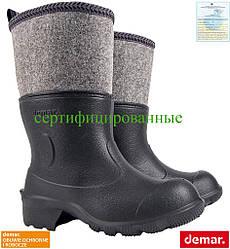 Гумові чоботи чоловічі з повстяною вставкою DEMAR Польща (робоче взуття) BDFILCOK B