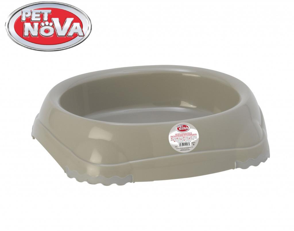 Миска для кошек Pet Nova P-EUROBOWL-INNO-210-GR Серая