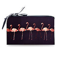 Косметичка Flamingo подарок девушке с принтом фламинго из неопрена, фото 1