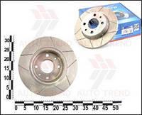 Тормозные диски ВАЗ 2108-099 перед. с канавками звездочка (ROTINGER)