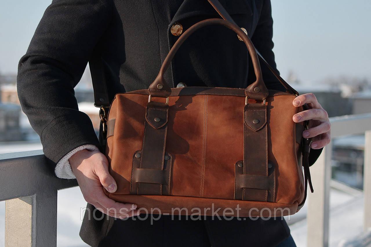 283a6b7e0226 Мужская кожаная сумка ручной работы SteelMan, Sharky Friends -  Nonstop-Market в Днепре