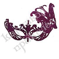 Венецианская маска Баттерфлай (малиновая), фото 1