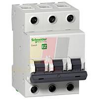 """EZ9 Автоматичний вимикач 3P, 16A, Х-КА """"С"""""""