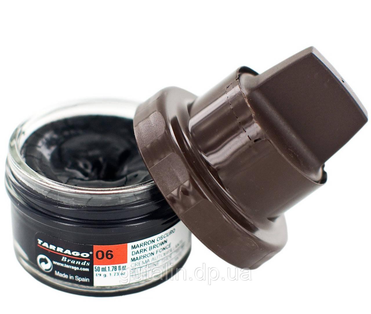 Крем для обуви Tarrago Self Shine Kit Cream 50 мл темно-коричневый (06)